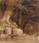 Figure by a Pool in a Wooded Landscape -